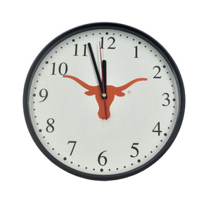 Wall Clock with Longhorn silhouette