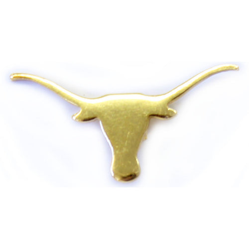Gold Longhorn Lapel Pin