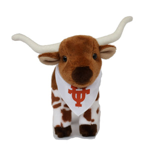 "Small 6"" Longhorn Plush Animal with UT logo"