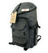 Load image into Gallery viewer, Gray Mission Backpack with Longhorn