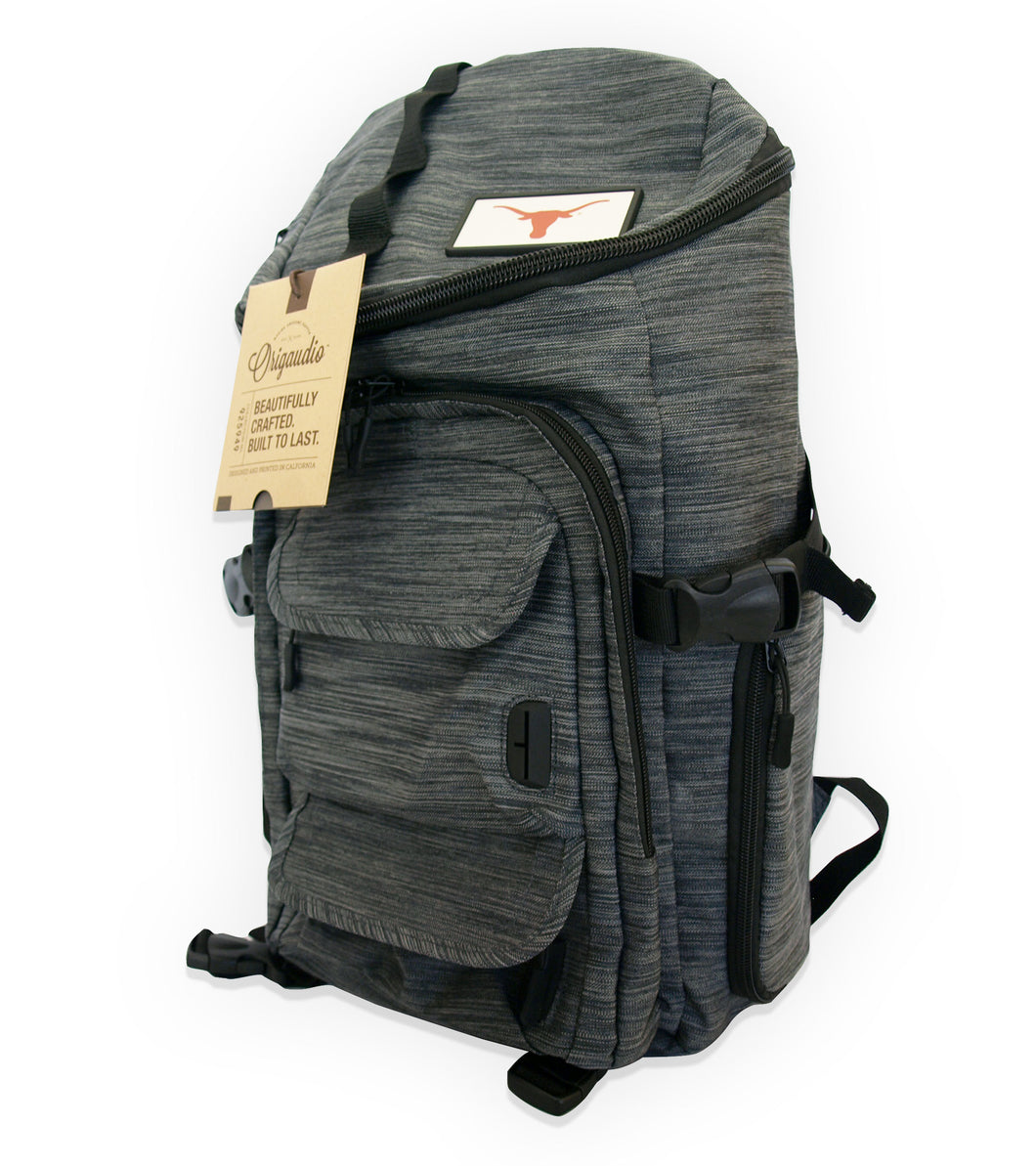 Gray Mission Backpack with Longhorn
