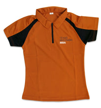 Load image into Gallery viewer, 2-Toned Polo with Texas McCombs MBA logo-women's style