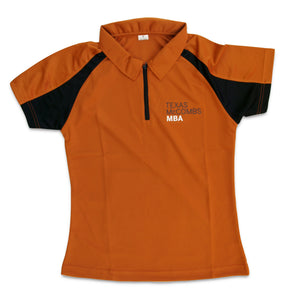 2-Toned Polo with Texas McCombs MBA logo-women's style