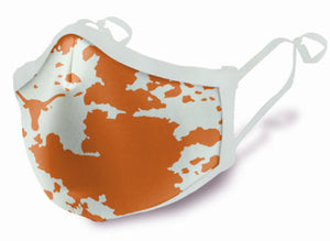 Longhorn Face Mask with hide pattern