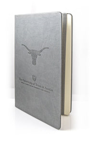 Hard Cover Gray Journals with Longhorn and UT logo - Due In 2/26/21