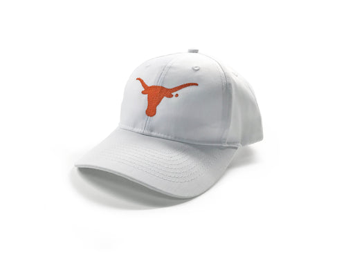 White Baseball Cap with Longhorn Silhouette