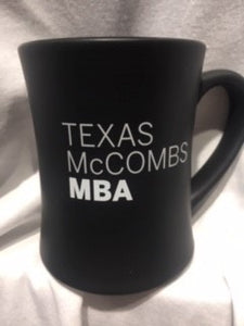 Texas McCombs MBA black coffee mug