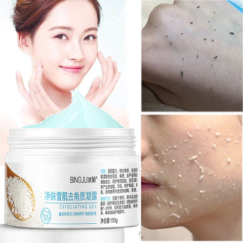 BINGJU Peeling Gel Facial Exfoliating Peeling Lotion Scrub Deep Clean Acne Blackhead Remove Face Cleanser Whitening oil control