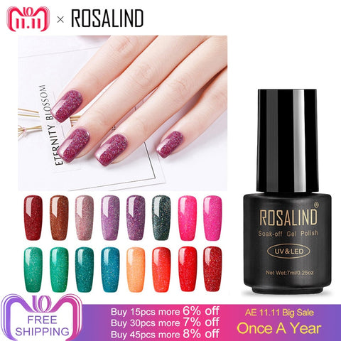 ROSALIND 7ml Nail Gel Polish Rainbow Shimmer