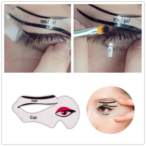 Eye Makeup Beauty Eyeliner mold Stencils Women Cat Line Pro Eye Makeup Tool eyeborw