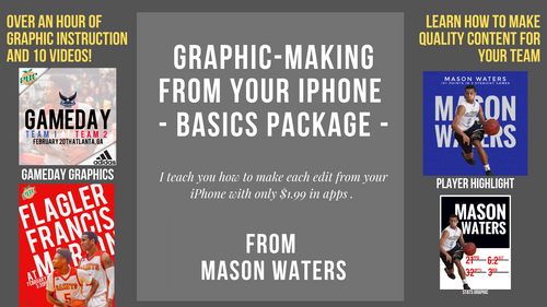 Sports Graphic Design Course 1 for iPhone
