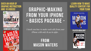 Basketball Graphic Design Course 1 for iPhone