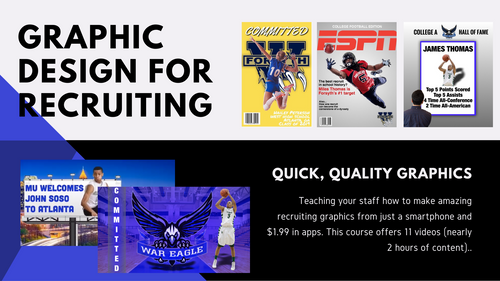 Learn How To Make Graphics for Recruits from Just a Phone