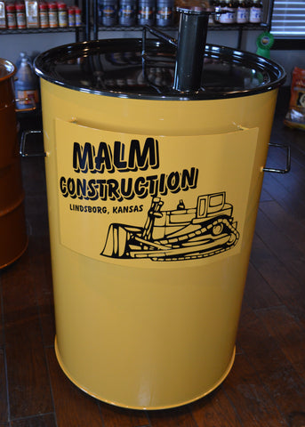 construction yellow Custom Color Drum with black lid