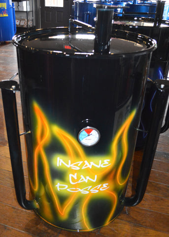 airbrushed yellow glowing flame design (front)