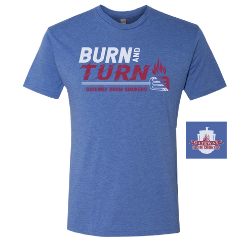 Burn & Turn Blue T-shirts