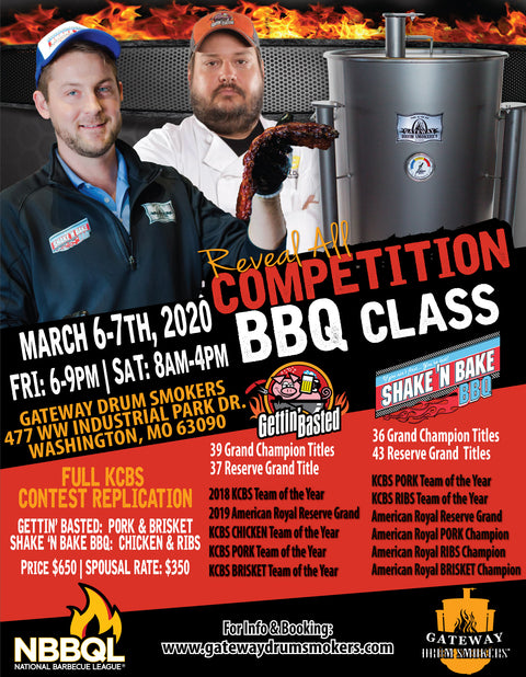 HOT & FAST Gateway Drum Smoker Class - Washington, MO: March 6-7th, 2020