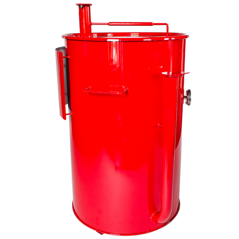 Gateway Drum Smoker® 55G - Red with Logo Plate