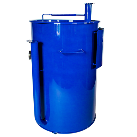 Gateway Drum Smoker® 55G - Royal Blue with Logo Plate