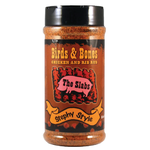 The Slabs Birds & Bones Chx and Rib Rub - 12.5 oz.