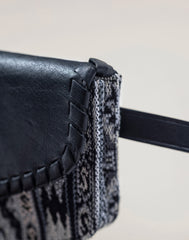 Side detail shot of Kilim Belt Bag in Black