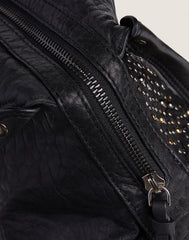 Studded Carryall in Black - FRIENDS & FAMILY 70% DISCOUNT APPLIED AT CHECKOUT