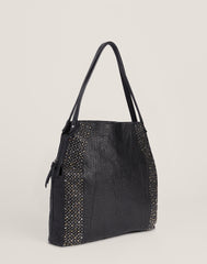 Studded Carryall in Black - FRIENDS & FAMILY 50% DISCOUNT APPLIED AT CHECKOUT