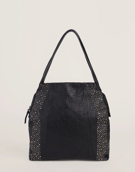Studded Carryall in Black