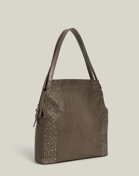 Studded Carryall in Grey - FRIENDS & FAMILY 50% DISCOUNT APPLIED AT CHECKOUT