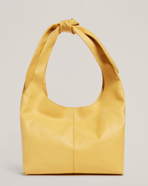 Front shot of the Tie Top Tote in Sunshine