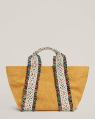 Front shot of Italian Canvas Mini Tote in Saffron