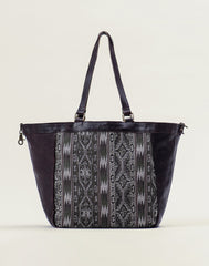 Front shot of Kilim Tote bag in Chocolate