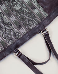 Shoulder Strap shot of Kilim Tote bag in Chocolate