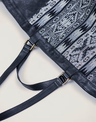 Shoulder strap shot of Kilim Tote bag in Black