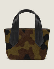 FRONT SHOT OF THE TAB TOTE MINI IN CAMO