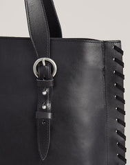 Detail of handle of Everyday Tote in Black