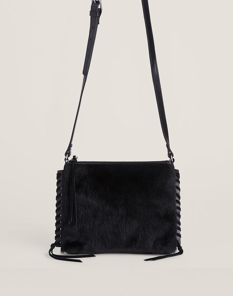 Front shot of black Everyday crossbody