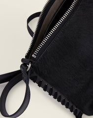 Detail shot of black crossbody