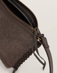 Zip detail shot of Everyday Crossbody in Natural