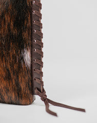 Fringe detail of Everyday crossbody in Multi