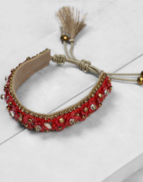 Yasmina Bracelet in Red