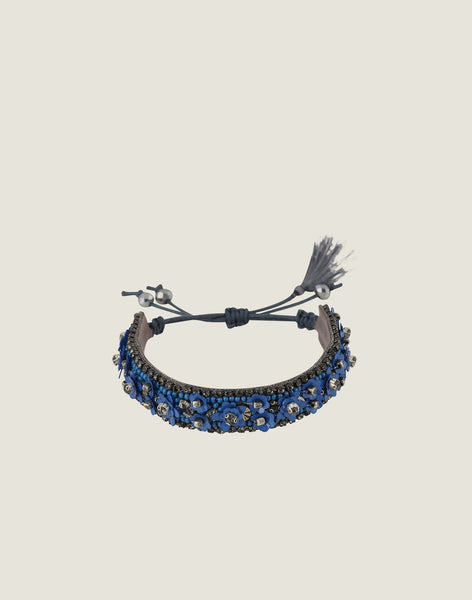 Front shot of Yasmina Bracelet in Blue