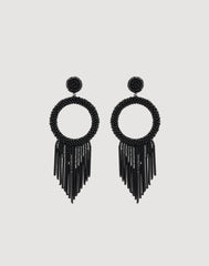 Front shot of Juniper Earrings in Black