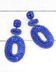 Britt Earrings in Blue