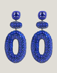 Front shot of the Britt Earrings in Blue