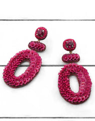 Britt Earrings in Pink