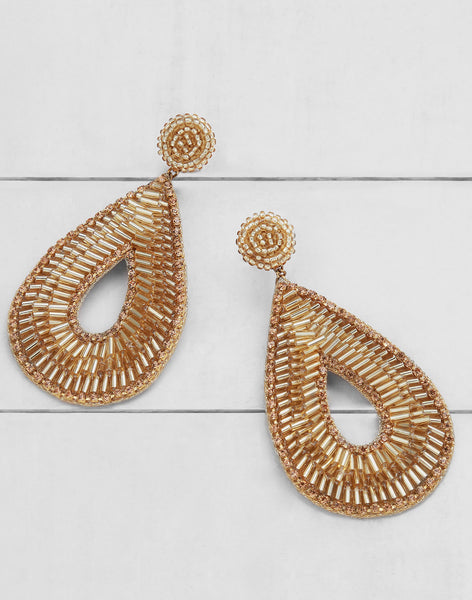 Abia Earrings in Gold
