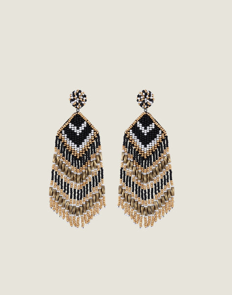 Front shot of Franny Earrings in Black