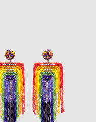 Detail shot of Becka Earrings in Rainbow