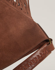 HANDLE SHOT OF Cascade Fringe Hobo in Chocolate